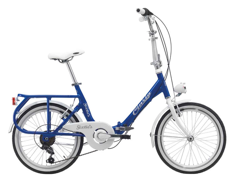 Bici Cinzia Pieghevole.Bici Pieghevole Cinzia Sixties 20 6v Shimano Ty21 Rs35 Blu