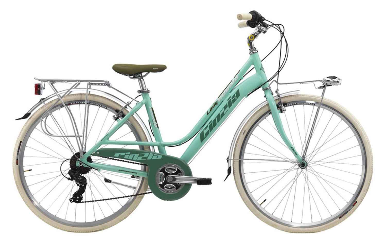 City Bike Vintage Cinzia Nuvola Donna 26 21v Ty21 Verde Pastello