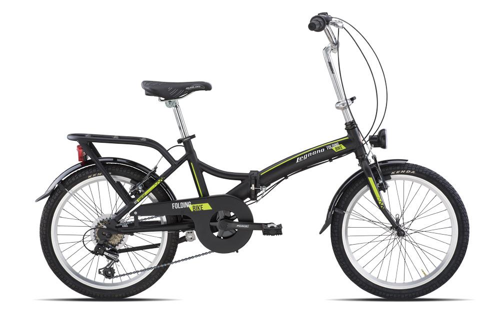 Bicicletta Pieghevole Kawasaki Folding Bike Alluminio.Bici Pieghevole Legnano Folding 20 6v Nero Opaco Verde